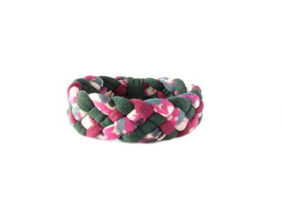 Tessuto intrecciato braccialetto bracciale di gicreazioni su Etsy