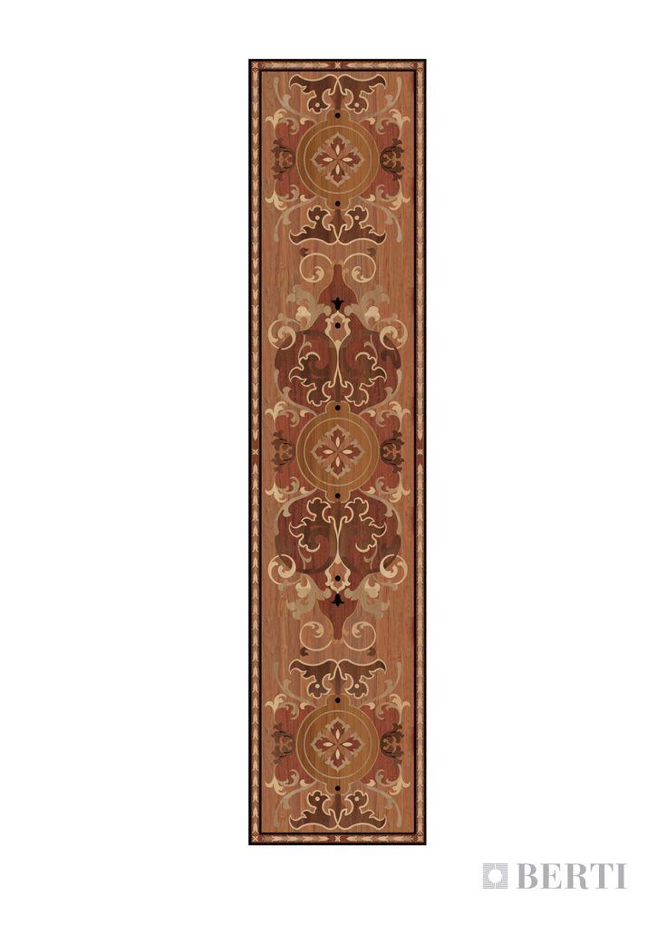 Berti-Wooden-Floors-render-corridor2 laser inlays #parquet #parquetlovers