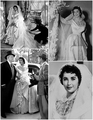 1950s elizabeth taylor celebrity weddings pinterest
