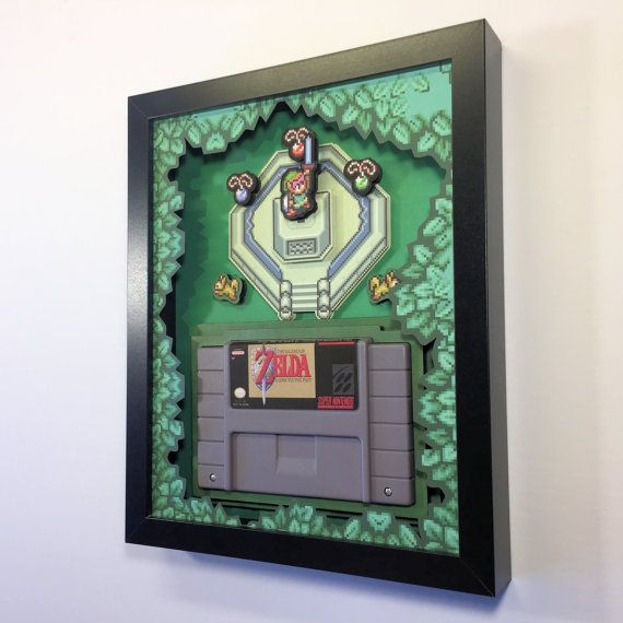Zelda: A Link to the Past Cartridge Holder for SNES with optional Replica Cart