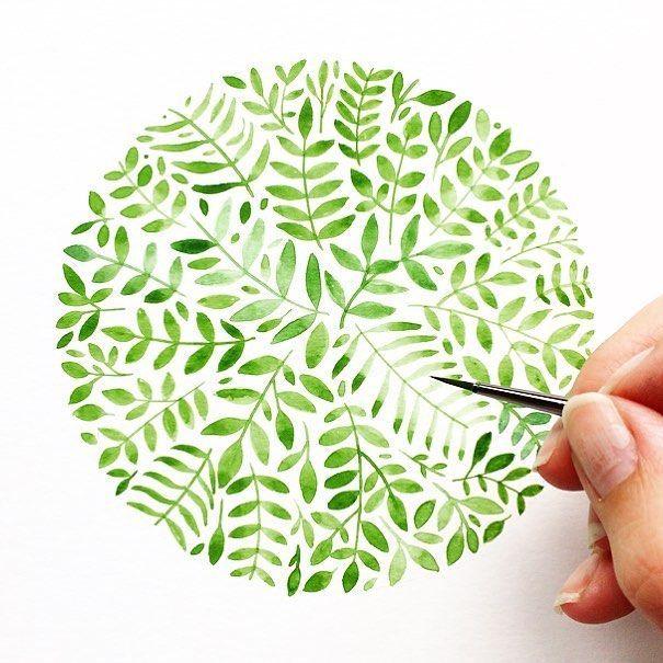 Malen Sie an einem Samstagnachmittag Blumenblätter. Welche Pläne haben Sie für