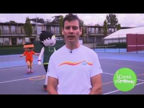 B is for Balance! Try this 'Balance the Book' #tennis game and see how it improves yours.