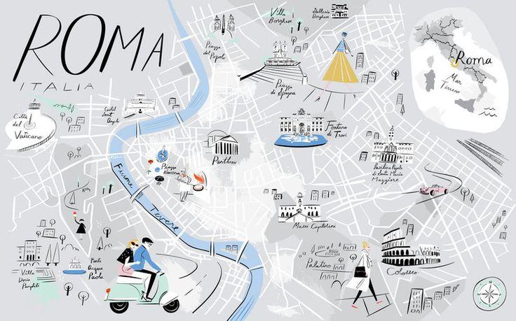 Map of Rome - Libby VanderPloeg