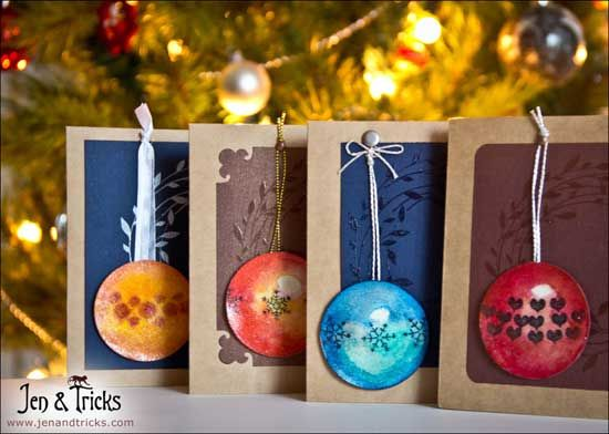 Hand-painted Christmas Baubles in Watercolour