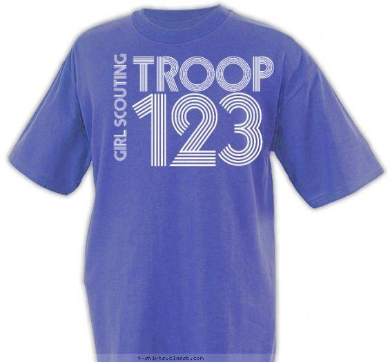 Retro Graphic T Shirt Design Girl Scouts Pinterest