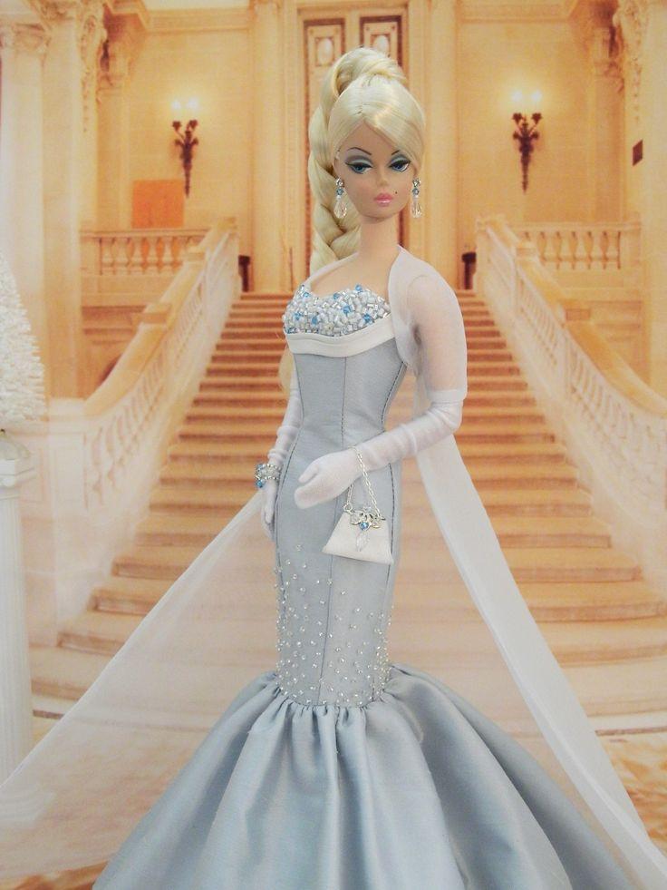 OOAK 'Frozen' Ball Gown Fashion for Silkstone Barbie by Joby Originals