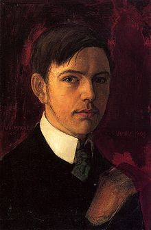 """Self-portrait,"" 1906 by August Macke - b. 1887. died at 27, killed in WWI in 1914."