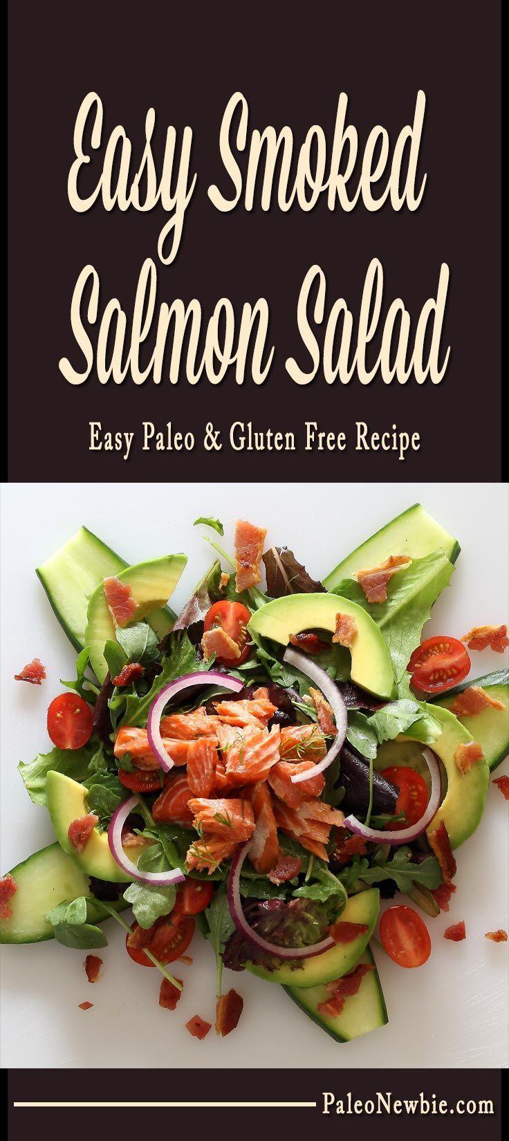 Simple salad and quick lemony dressing you can whip up in minutes with some ready-made smoked salmon. What a light and luscious lunch!