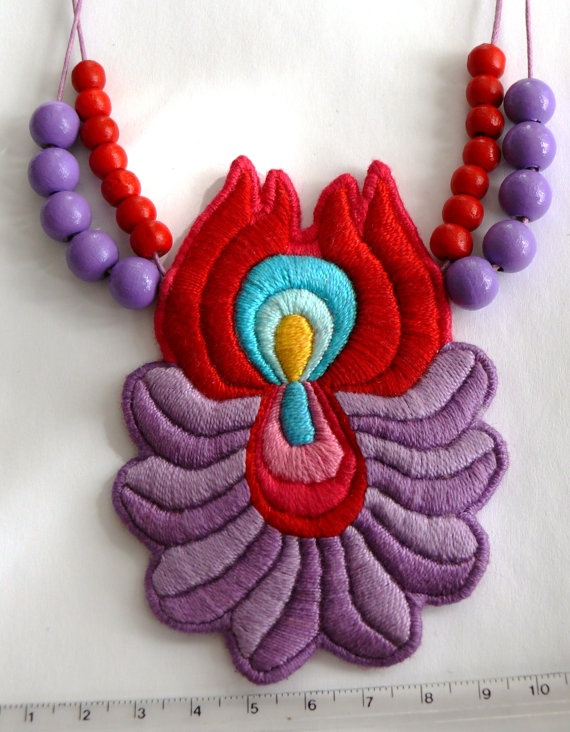 A Bit of Hungary  Hand Embroidered Matyo Folk by mokavicka on Etsy, $43.00