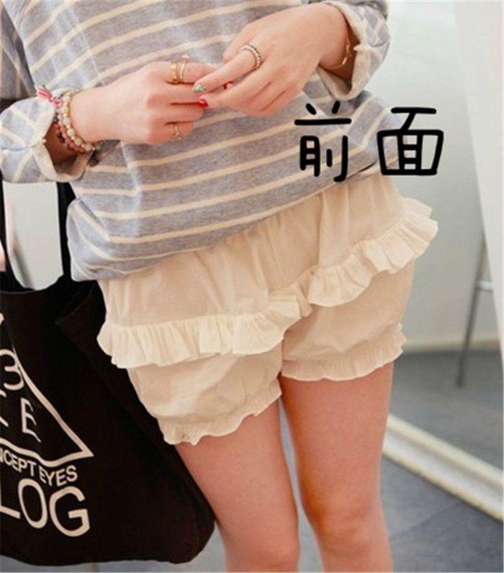 Cute Girls Lolita 100% Cotton Safety Trousers Women Pumpkin Underwear Shorts