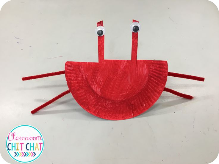 Review of 'Awesome art and craft' by RIC Publications. Crab paper plate craft idea. Under the sea classroom theme