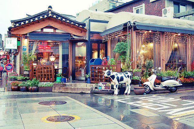 Cafe in Samcheongdong, Seoul, South Korea