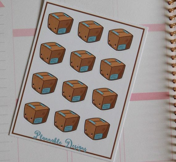 12 kawaii package stickers Never miss an incoming parcel or important order again with these amazing stickers Printed on high quality matte vinyl sticker paper