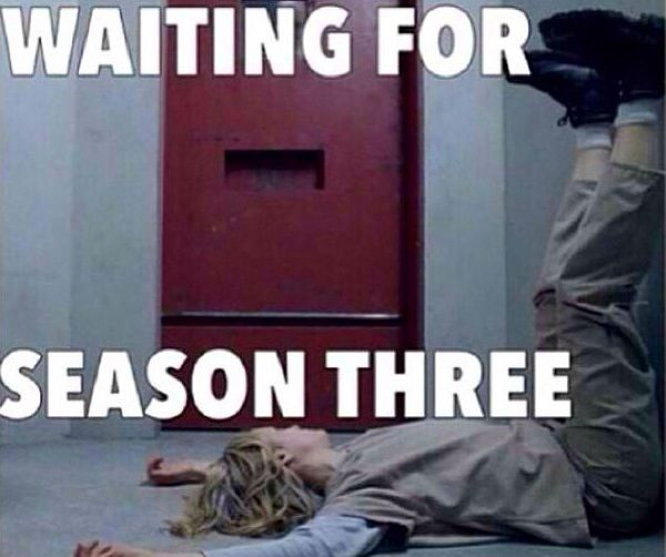 Waahh :'( just finished season 2 :) now to wait til 2015 :/ uuugh..