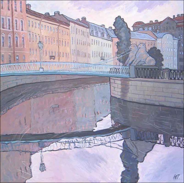 Наталия Пушнина Львиный мостик 2003 г. х.,темп. 100х100