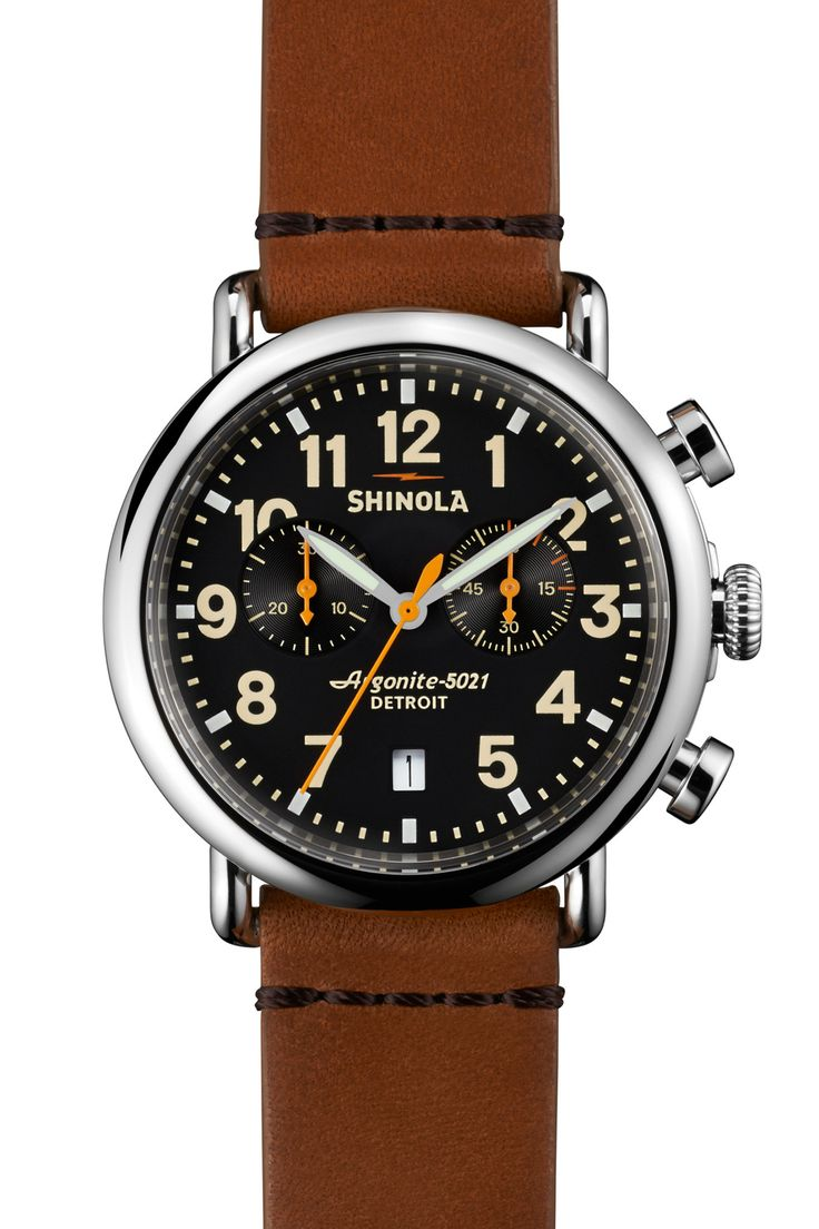 The Runwell Chrono 41mm in black & tan