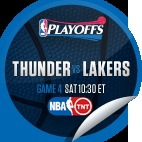 Oklahoma City Thunder vs. LA Lakers #4