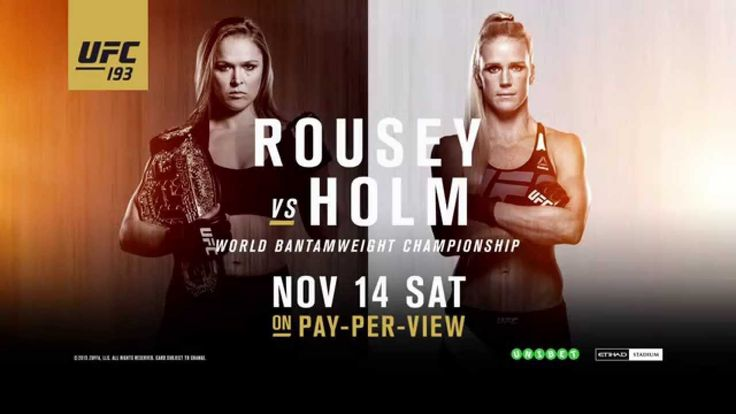 UFC 193: Rousey vs Holm - Once in History (Video) - http://www.trillmatic.com/ufc-193-rousey-vs-holm-history-video/ - Ronda Rousey is a once in a lifetime fighter. At UFC 193 in Australia, she'll look to defend her bantamweight title for the seventh time against Holly Holm. #UFC #Rousey #UFC193 #RouseyVsHolm #Australia #Trillmatic #TrillTimes