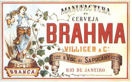 Brahma beer label