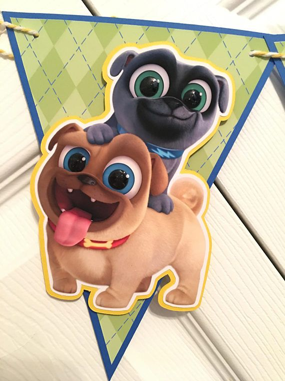 Puppy Dog Pals Birthday Banner Puppy Dog Pals Birthday