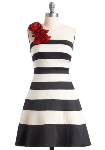 When You Can Dance Dress, #ModCloth I'm a sucker for black and white dresses!