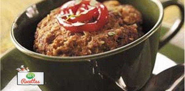 recette pain de viande dans une tasse