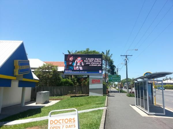 ALSO LOOK IT'S @Deanna_Hood ON A @QUT BILLBOARD IN ANNERLEY :o
