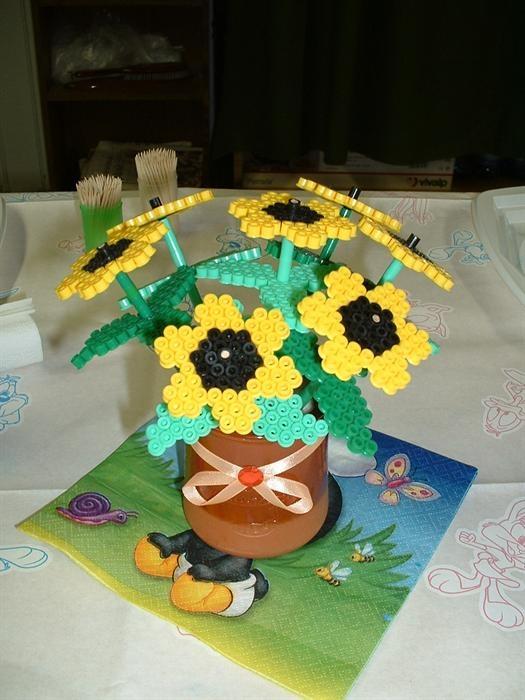 Sunflowers perler beads by Noe D. - Perler®   Gallery
