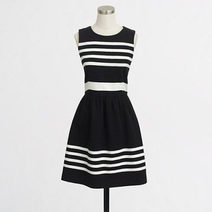J.Crew Factory - Factory pleated ponte dress in stripe