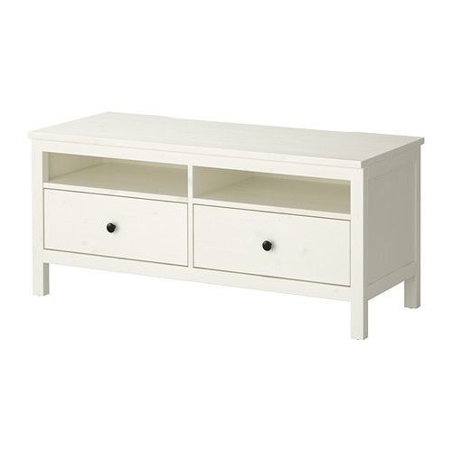 HEMNES TV unit IKEA Solid wood has a natural feel. Large drawers make it easy to keep your things organized.