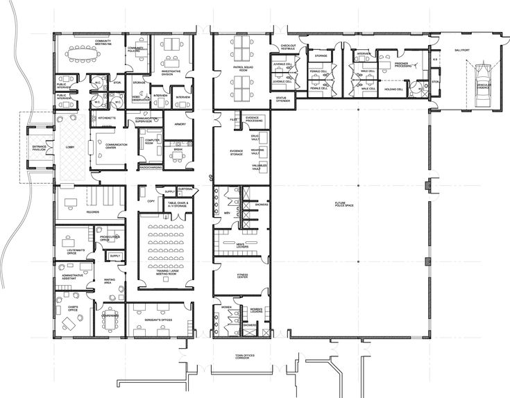Astonishing Floor Plans Blueprints On Floor With Home Floor Plan Pelham  Police Station Plans | New Building | Pinterest | Police Station