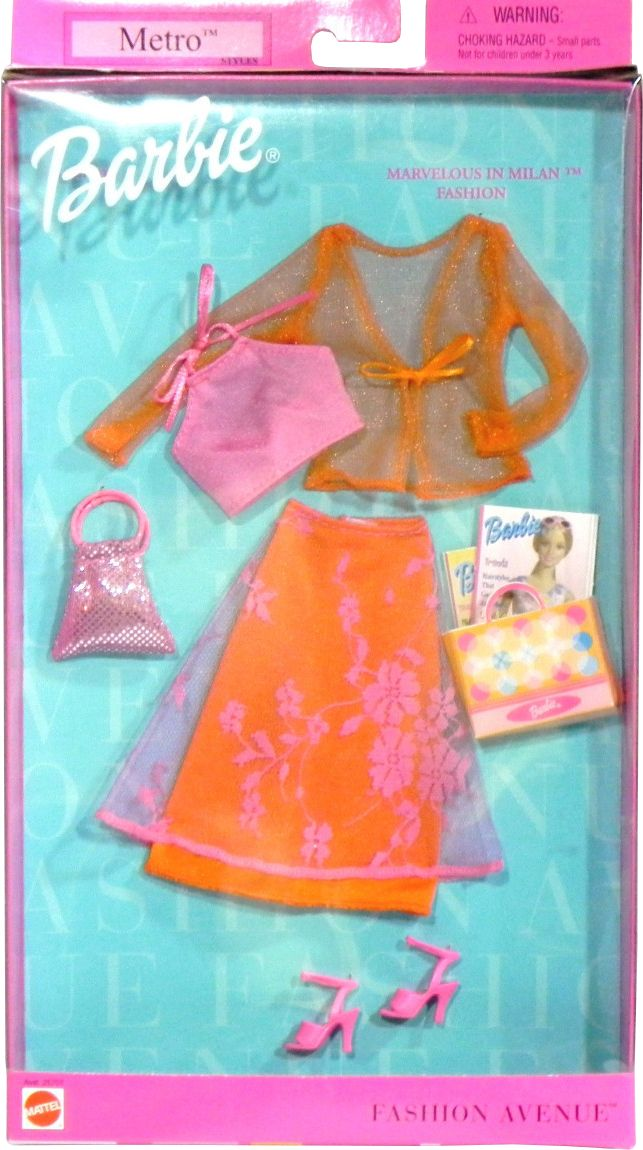 Barbie Star in Bloom Fashion Avenue Outfit Cloth Blue Dress New In Box Mattel