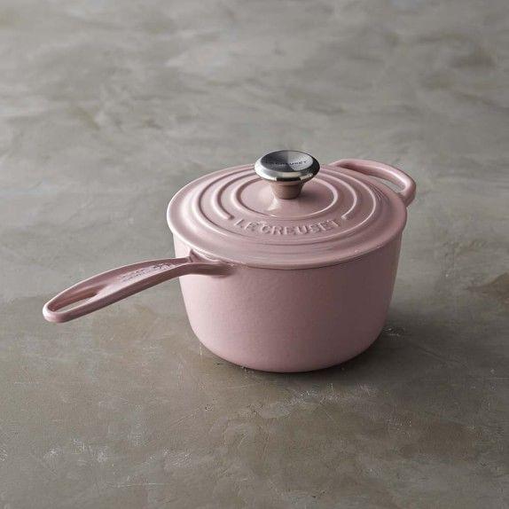 PINK!!! COME ON NOW !!! Le Creuset Signature Cast-Iron Saucepan | Williams-Sonoma