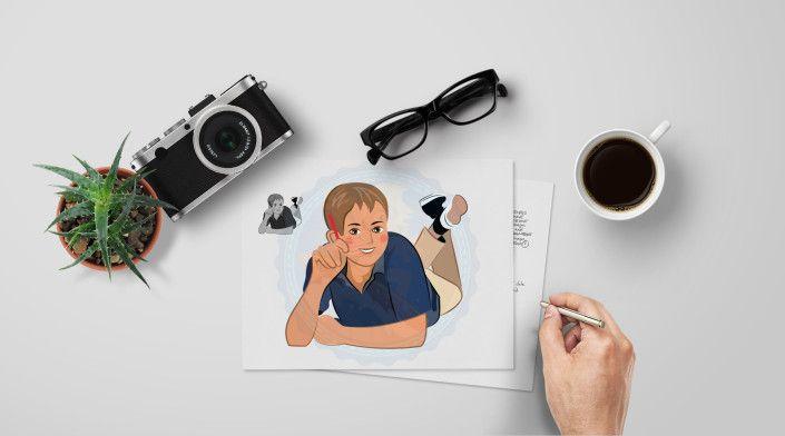 Teen Boy | Middle School Kids | European | Lying on floor doing homework