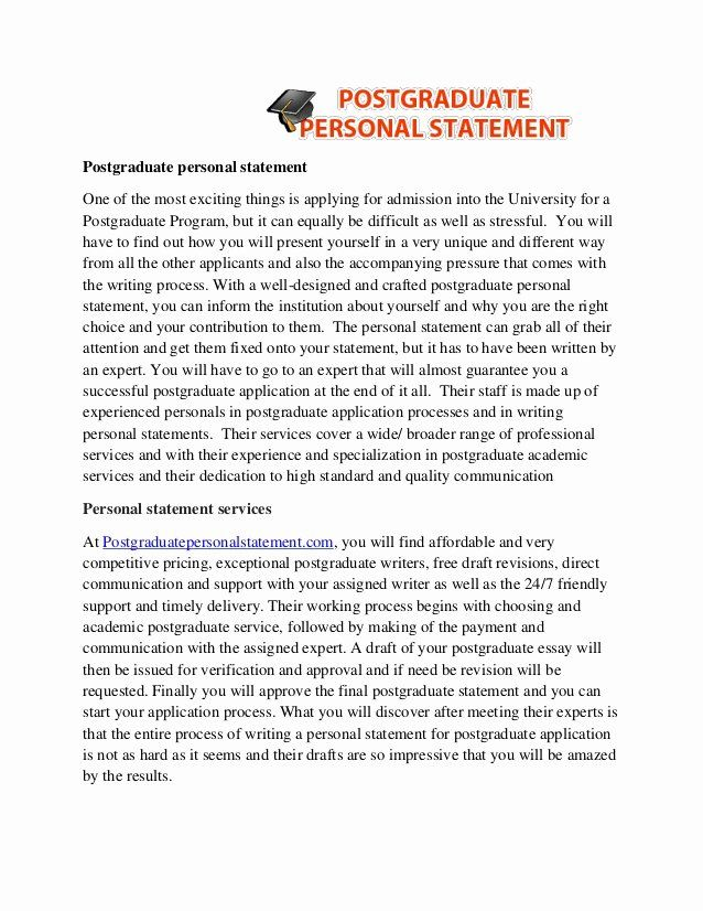 Personal Statement For Phd Application Sample Awesome Master Degree Stateme Example Mission U Visa