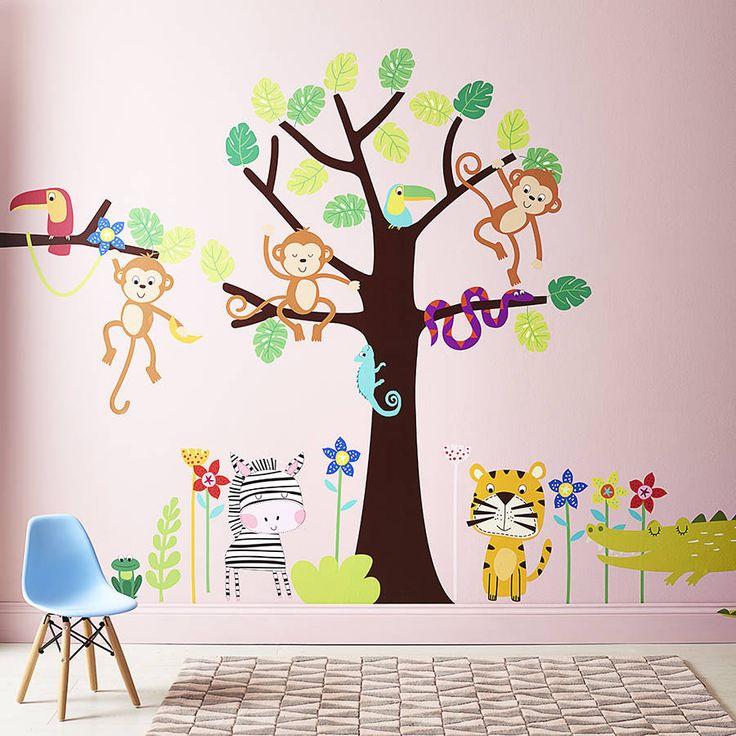 Best Jungle Wall Stickers Ideas On Pinterest Nursery Wall - How do you put a wall sticker on