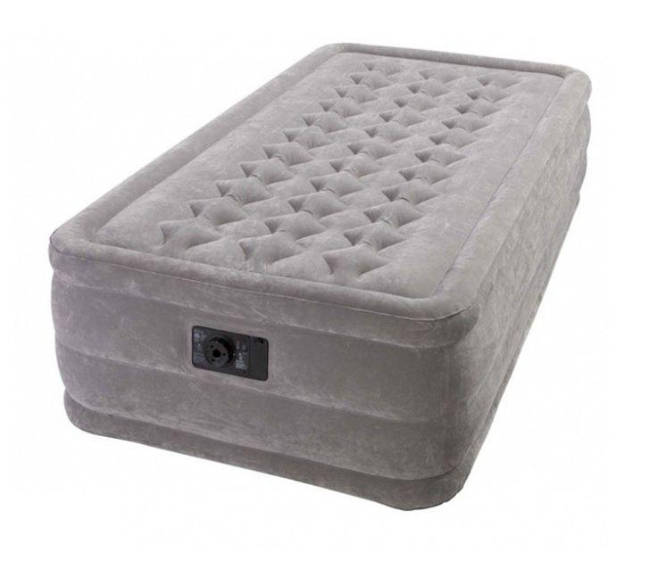 Matelas Gonflable Intex Ultra Plush 1 Personne - La sensation de dormir sur un vrai lit avec ce matelas gonflable ultra confort. Gonfleur électrique et sac de rangement inclus. #MatelasGonflable