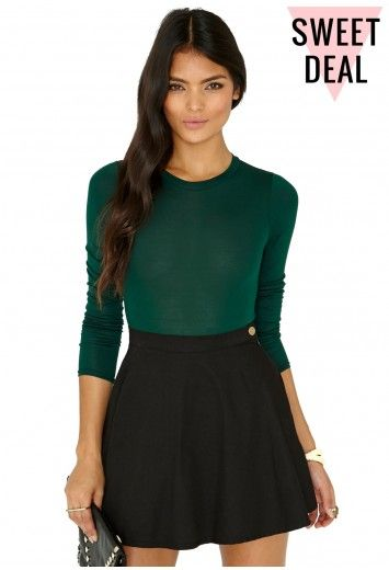 Missguided - Gerta Value Long Sleeve Bodysuit In Deep Green