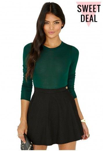 Missguided - Gerta Value Long Sleeve Bodysuit In Deep Green