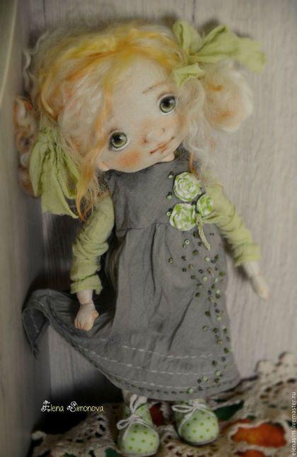 Коллекционные куклы ручной работы. Ярмарка Мастеров - ручная работа. Купить Мелисса. Handmade. Салатовый, выкройка, подарок, обувь для кукол