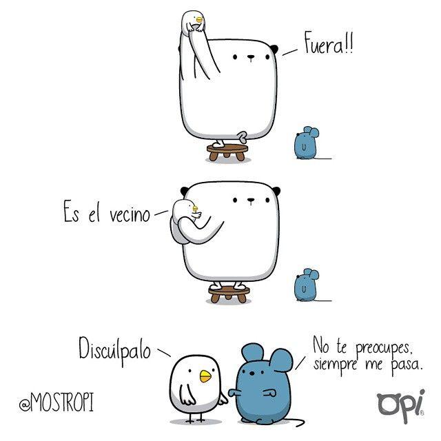 No te preocupes, siempre me pasa. #opi #cute #kawaii #mostropi #ilustración #raton