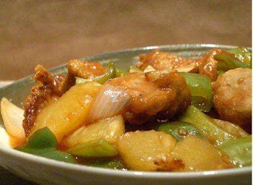 Cerdo con Piña. Te enseñamos a cocinar recetas fáciles cómo la receta de Cerdo con Piña. y muchas otras recetas de cocina..