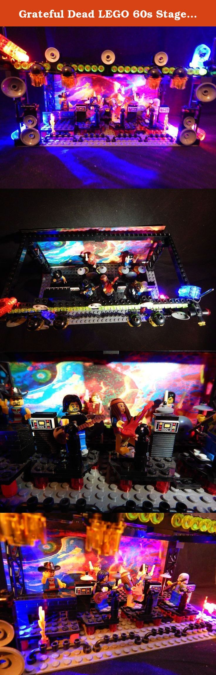 Grateful Dead LEGO 60s Stage Jerry Garcia Pigpen Bob Weir Phil Lesh JGB Not a t Shirt or Pin See all our LEGOS Steal Your Face. LEGO GRATEFUL DEAD STAGE FOR SERIOUS COLLECTORS and BUILDERS! WHAT A GIFT! Buy from GD Family! This set is no joke! It offers OVER 200 PIECES! Here are some of it's components: > 200+ Official Lego Pieces. We source these parts from all over the world and they are hard to get so please don't complain about the price! > 3 Amps > 3 Adjustable Mic Stands > Sturdy...