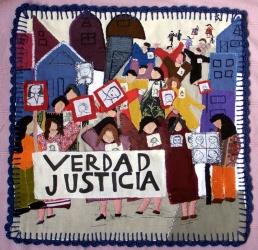 Arpillera verdad y justicia