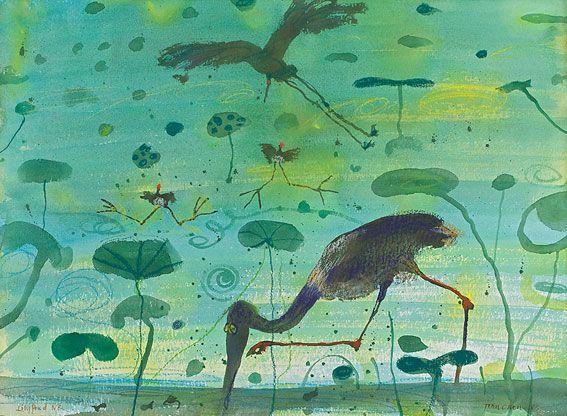 """John Olsen """"Lily Pond North Queensland"""