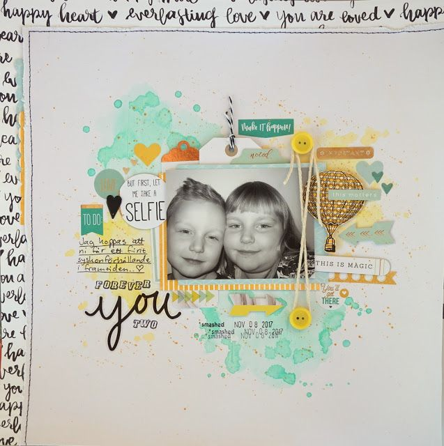 Sara Kronqvist - Saras pysselblogg: Forever you two | Scrapbook page