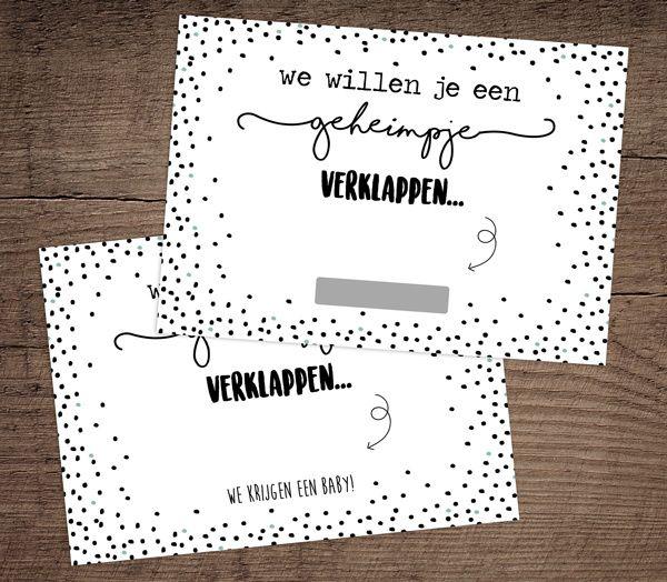 Kraskaartjes om je zwangerschap aan te kondigen.  Www.hippekaartjeswinkel.nl
