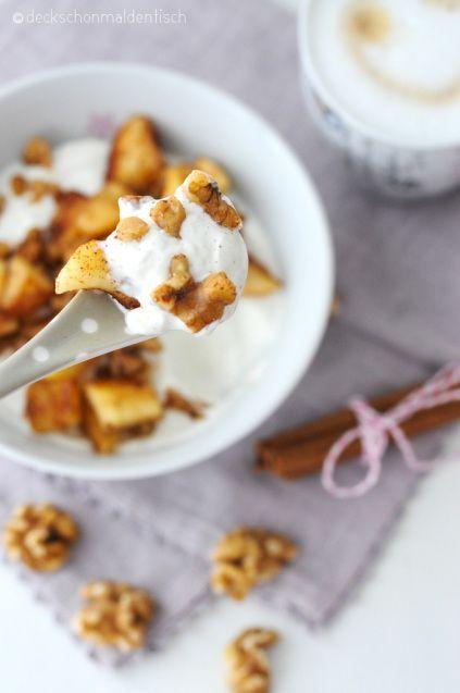 """Bratapfel-Quark – oder """"winterliches Wochenend-Frühstück"""""""