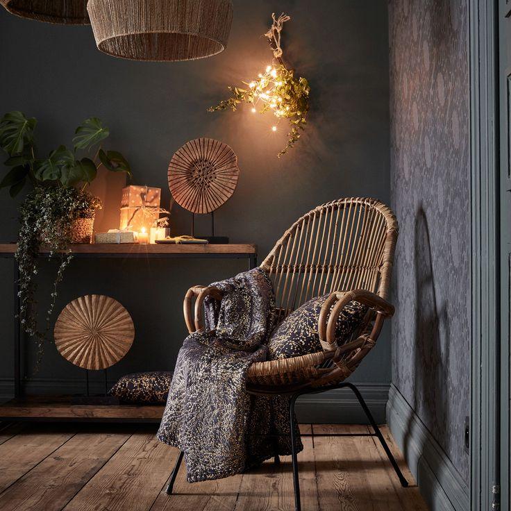 fauteuil en rotin et métal  alinéa  deco decoration