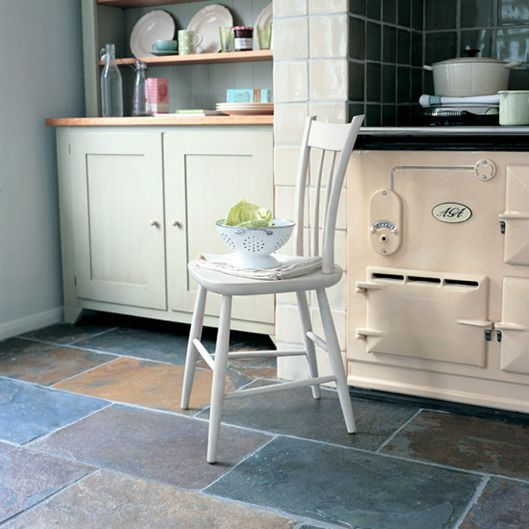 Natural Stone For Kitchen Floors | Cottage Kitchen: Flooring continued | gjconstructs